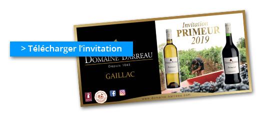 Télécharger l'invitation à la soirée Gaillac Primeur 2019